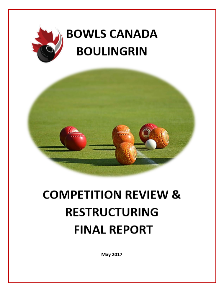 Competition review and restructuring final report